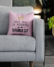 This Seat Is For Savannah cat Square Pillowcase aos-pillow-square-front-lifestyle-05