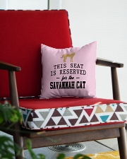 This Seat Is For Savannah cat Square Pillowcase aos-pillow-square-front-lifestyle-09