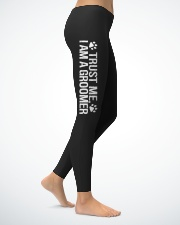 TRUST ME  I AM A GROOMER Ladies Leggings lifestyle-leggings-right-1