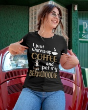 Sip Coffee With My Bernedoodle  Ladies T-Shirt apparel-ladies-t-shirt-lifestyle-01