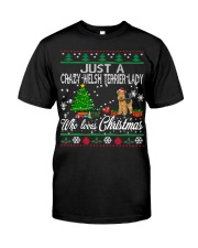 Crazy Welsh Terrier Lady Who Loves Christmas Classic T-Shirt thumbnail