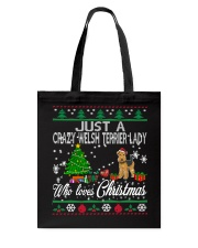 Crazy Welsh Terrier Lady Who Loves Christmas Tote Bag thumbnail