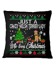 Crazy Welsh Terrier Lady Who Loves Christmas Square Pillowcase thumbnail