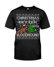 Christmas Is Better WIth A Bloodhound Classic T-Shirt thumbnail