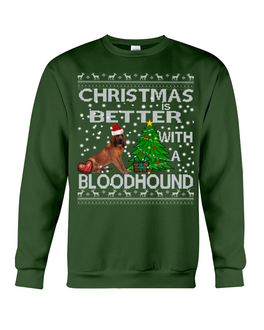 Christmas Is Better WIth A Bloodhound Crewneck Sweatshirt