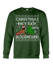 Christmas Is Better WIth A Bloodhound Crewneck Sweatshirt front