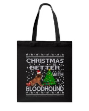 Christmas Is Better WIth A Bloodhound Tote Bag thumbnail