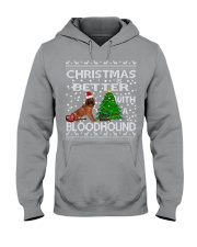 Christmas Is Better WIth A Bloodhound Hooded Sweatshirt thumbnail
