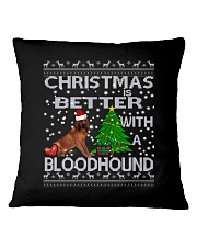 Christmas Is Better WIth A Bloodhound Square Pillowcase thumbnail