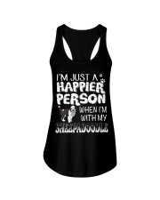 Sheepadoodle Happier Person Ladies Flowy Tank thumbnail