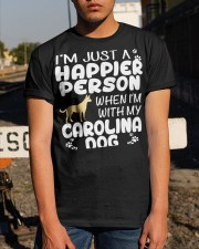 Happier Person Carolina Dog Classic T-Shirt apparel-classic-tshirt-lifestyle-29