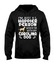 Happier Person Carolina Dog Hooded Sweatshirt thumbnail