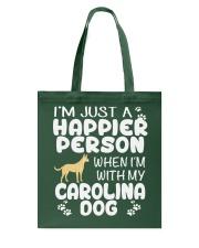 Happier Person Carolina Dog Tote Bag thumbnail