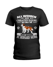 Saint Bernard Mom Ladies T-Shirt thumbnail
