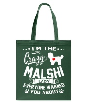Crazy Malshi Lady Tote Bag thumbnail