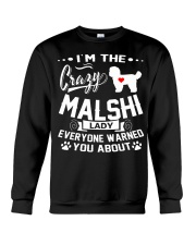 Crazy Malshi Lady Crewneck Sweatshirt tile