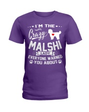 Crazy Malshi Lady Ladies T-Shirt front