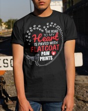 My Heart Paved With Flatcoat Paw Prints Classic T-Shirt apparel-classic-tshirt-lifestyle-29