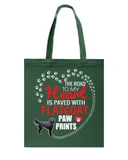 My Heart Paved With Flatcoat Paw Prints Tote Bag thumbnail