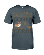 A Good Day WIth Corgi And Coffee Classic T-Shirt thumbnail