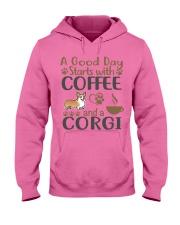 A Good Day WIth Corgi And Coffee Hooded Sweatshirt thumbnail