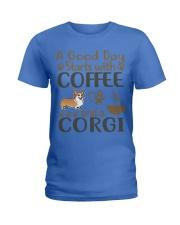 A Good Day WIth Corgi And Coffee Ladies T-Shirt thumbnail