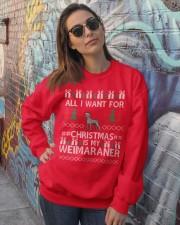 All I Want For Christmas Is My Weimaraner Crewneck Sweatshirt lifestyle-unisex-sweatshirt-front-3