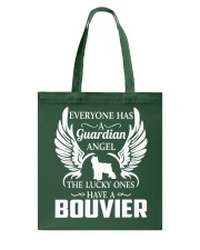 My Guardian Angel Is A Bouvier Tote Bag thumbnail