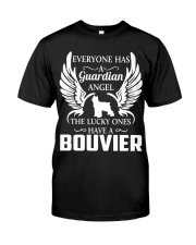 My Guardian Angel Is A Bouvier Classic T-Shirt front