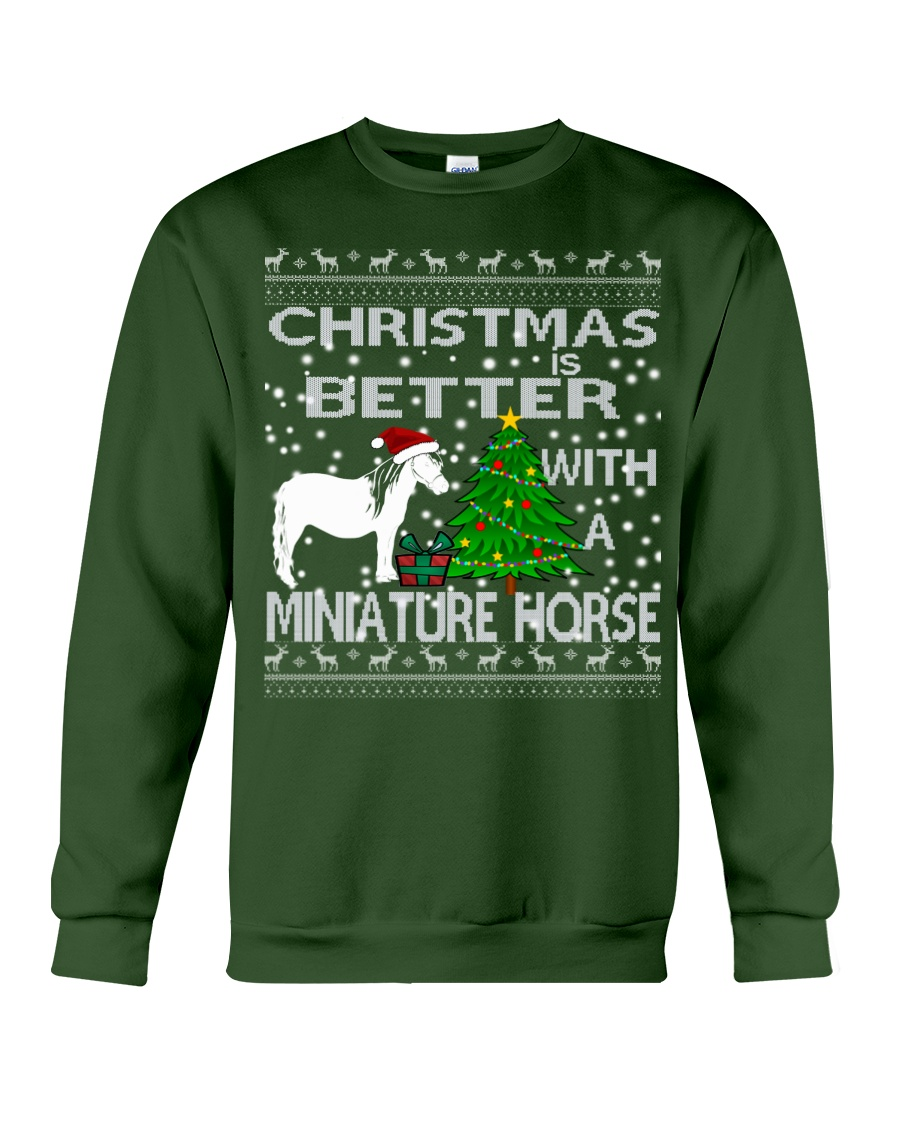Christmas Is Better WIth A Miniature Horse Crewneck Sweatshirt