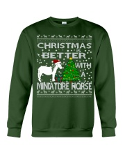 Christmas Is Better WIth A Miniature Horse Crewneck Sweatshirt front