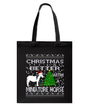 Christmas Is Better WIth A Miniature Horse Tote Bag thumbnail