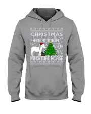 Christmas Is Better WIth A Miniature Horse Hooded Sweatshirt thumbnail