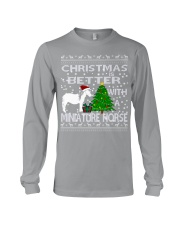 Christmas Is Better WIth A Miniature Horse Long Sleeve Tee thumbnail
