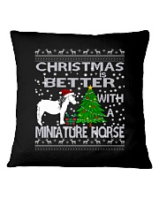 Christmas Is Better WIth A Miniature Horse Square Pillowcase thumbnail