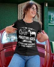 CRAZY MINIATURE HORSE LADY Ladies T-Shirt apparel-ladies-t-shirt-lifestyle-01