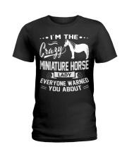 CRAZY MINIATURE HORSE LADY Ladies T-Shirt front