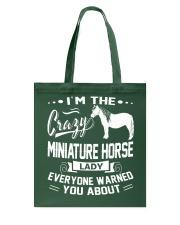 CRAZY MINIATURE HORSE LADY Tote Bag thumbnail