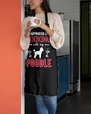 Happiness Is Cooking With My Poodle Apron aos-apron-27x30-lifestyle-front-05