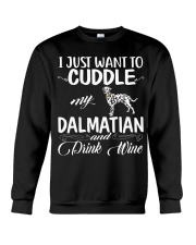 I Just Want Cuddle My Dalmatian Crewneck Sweatshirt thumbnail
