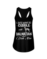 I Just Want Cuddle My Dalmatian Ladies Flowy Tank thumbnail