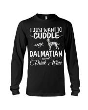I Just Want Cuddle My Dalmatian Long Sleeve Tee thumbnail