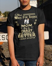Crazy Wire Fox Terrier Mom Better Than Stupid Classic T-Shirt apparel-classic-tshirt-lifestyle-29