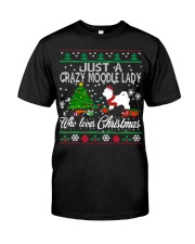 Crazy Moodle Lady Who Loves Christmas Classic T-Shirt thumbnail