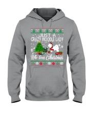 Crazy Moodle Lady Who Loves Christmas Hooded Sweatshirt thumbnail
