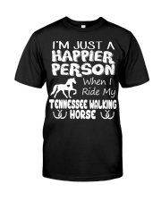 Tennessee Walking Horse Happier Person Classic T-Shirt thumbnail