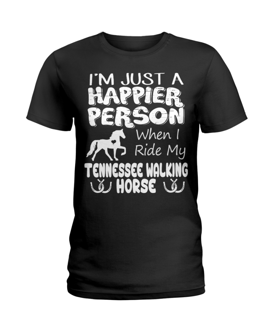 Tennessee Walking Horse Happier Person Ladies T-Shirt