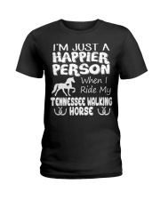 Tennessee Walking Horse Happier Person Ladies T-Shirt front