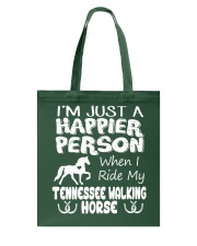 Tennessee Walking Horse Happier Person Tote Bag thumbnail