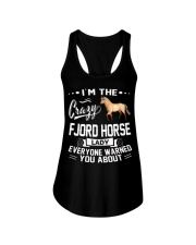CRAZY FJORD HORSE LADY Ladies Flowy Tank thumbnail